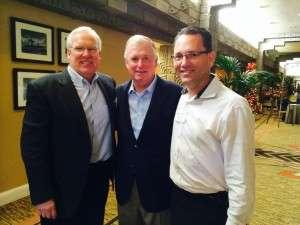 Karl Glassman, Vice President Dan Quayle, and Mark Quinn