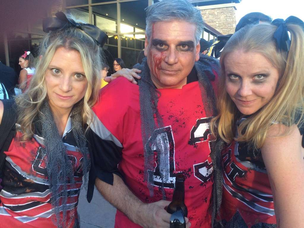 It was a HOMECOMING theme. Meet the Zombie Cheerleaders and costume winners.