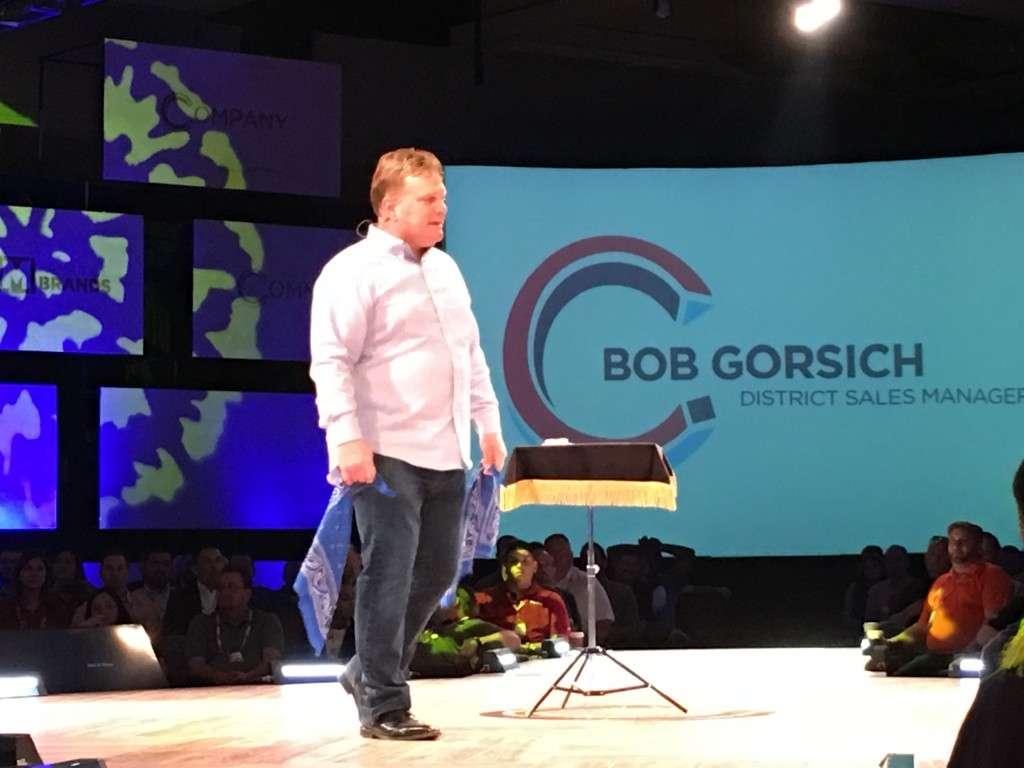 Bob Gorsich works his magic. Literally.